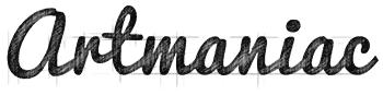 Logo Artmaniac sketch - Michael van Houten