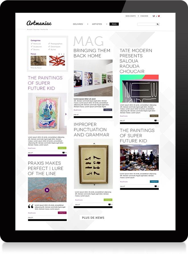 Artmaniac magazine - Michael van Houten