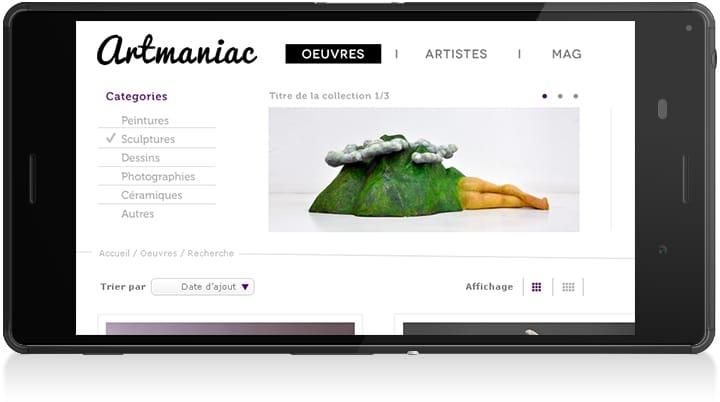 Logo Artmaniac phone - Michael van Houten