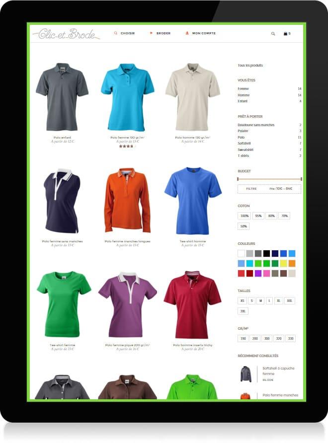 Clic et Brode shop 2 Ecommerce - Michael vanHouten