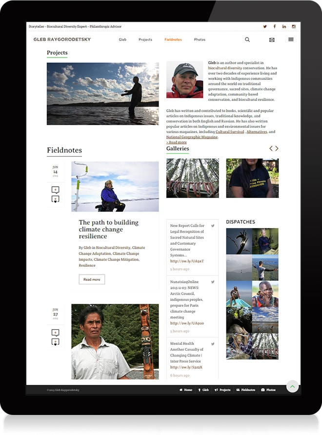Gleb Raygorodetsky Conception web accueil - Michael van Houten