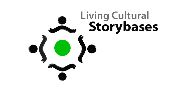 Logo Living Cultural Storybases - Michael van Houten