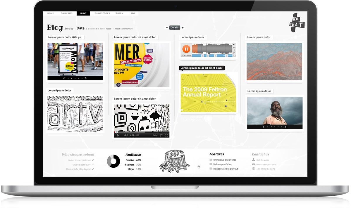 Upbeat demo blog Stratégie de communication - Michael van Houten