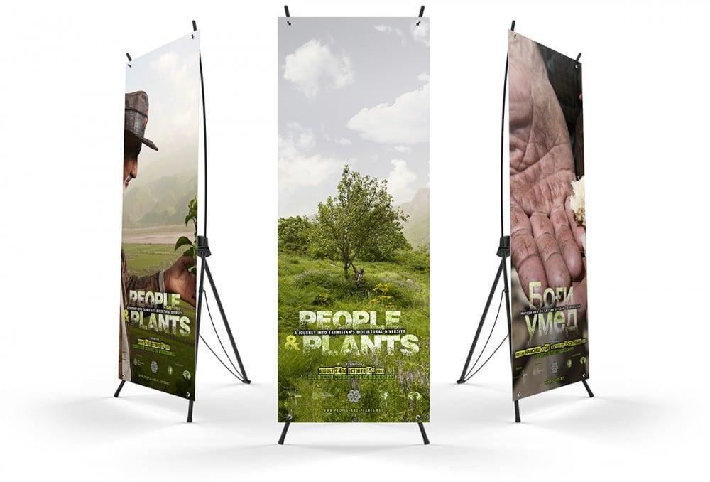 People and Plants kakémono 4 - Michael van Houten